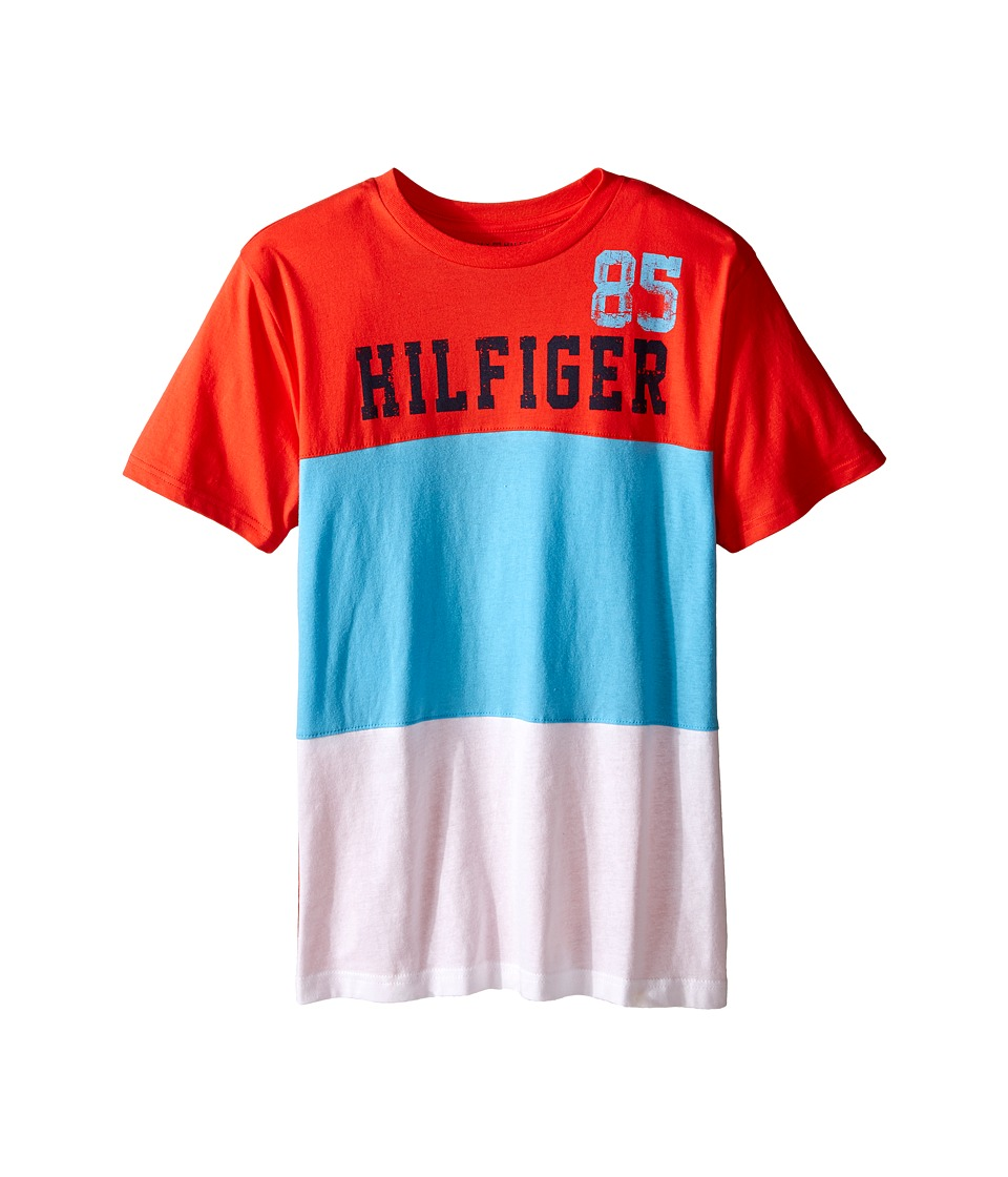 Tommy Hilfiger Kids - Boris Stripe Tee (Big Kid) (Holly Red) Boy's T Shirt
