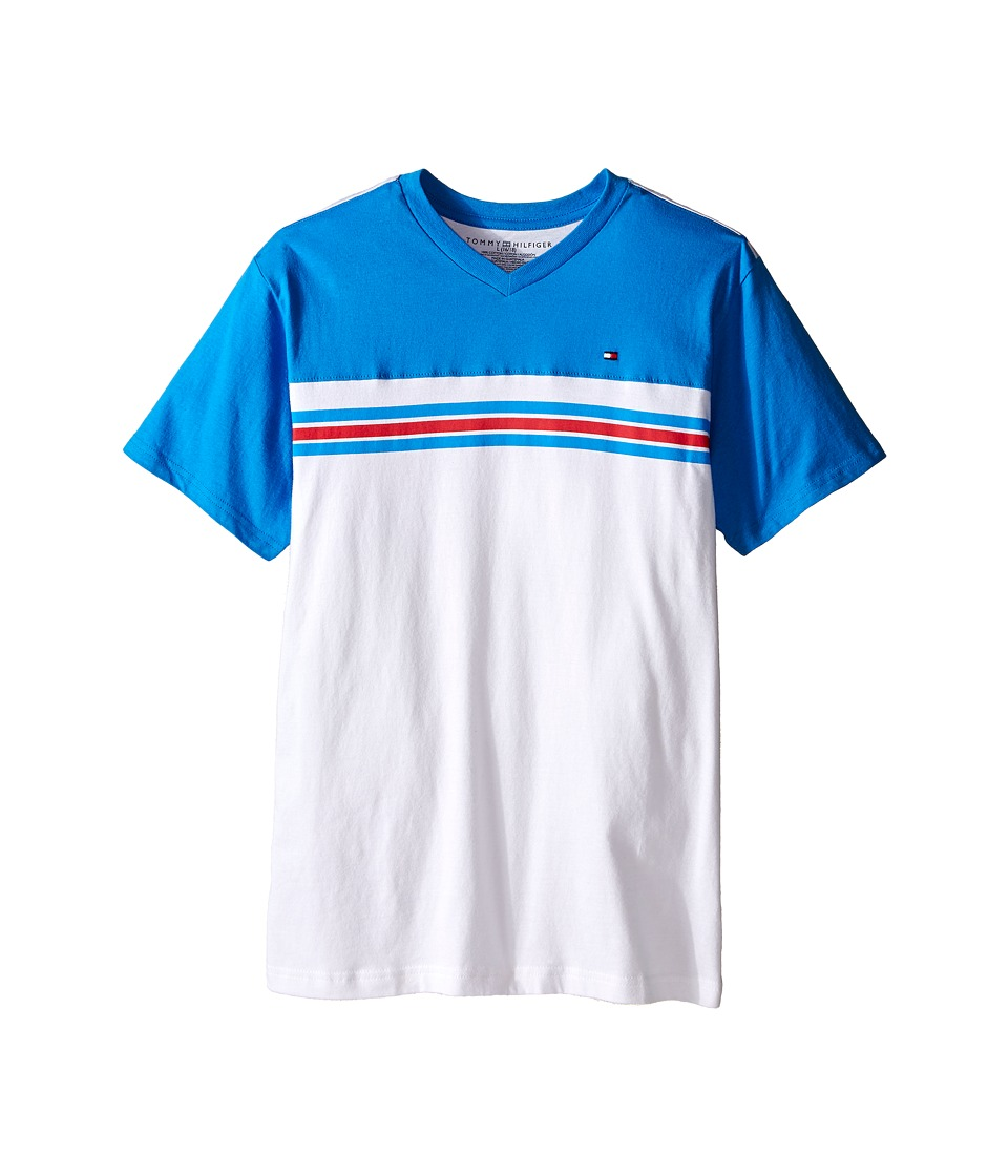 Tommy Hilfiger Kids - Marvin Stripe Tee (Big Kid) (Splash) Boy's T Shirt