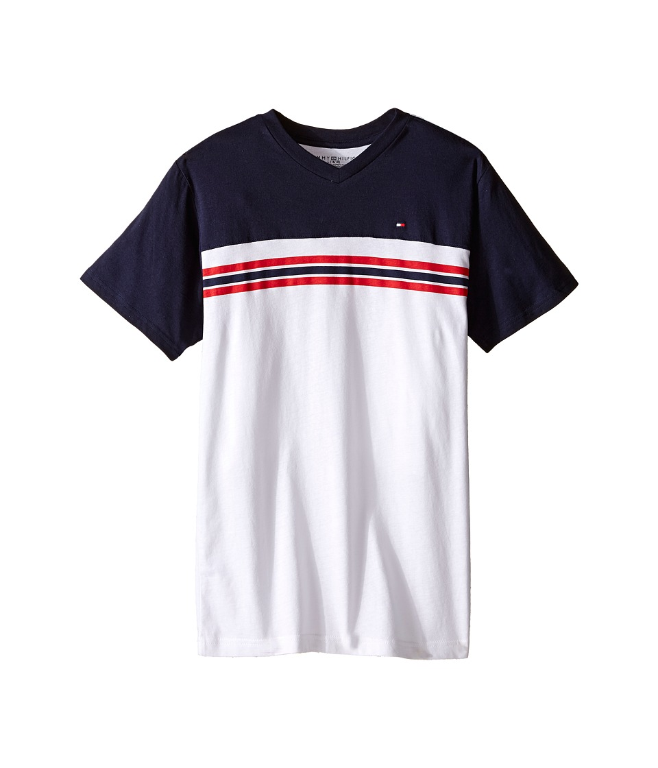 Tommy Hilfiger Kids - Marvin Stripe Tee (Big Kid) (Swim Navy) Boy's T Shirt