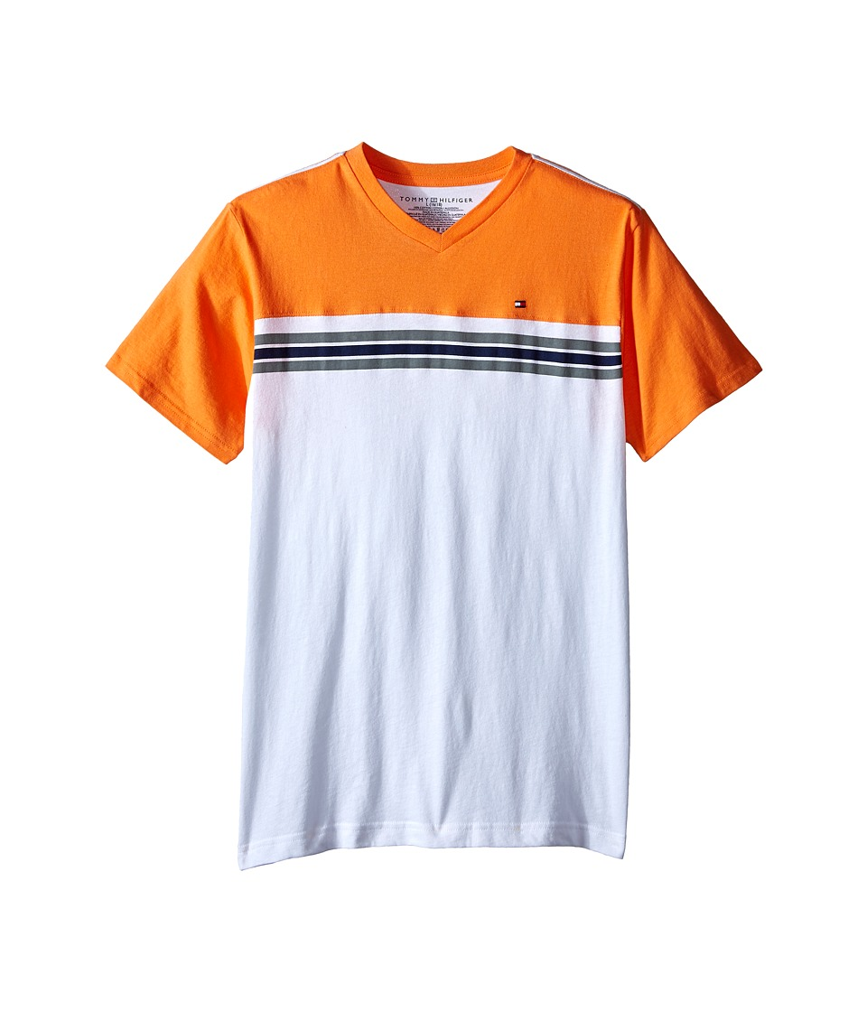 Tommy Hilfiger Kids - Marvin Stripe Tee (Big Kid) (Aphid Orange) Boy's T Shirt