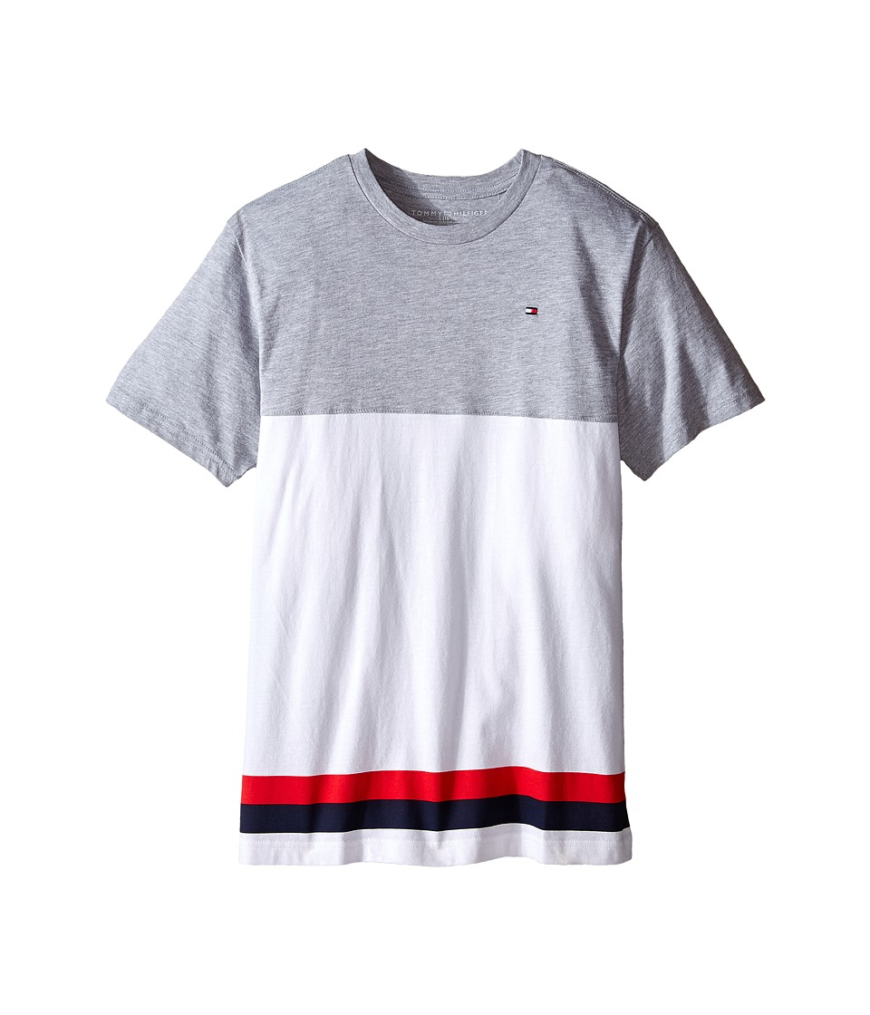 Tommy Hilfiger Kids - Kristov Stripe Tee (Big Kid) (Tommy Hilfiger Grey Heather) Boy's T Shirt