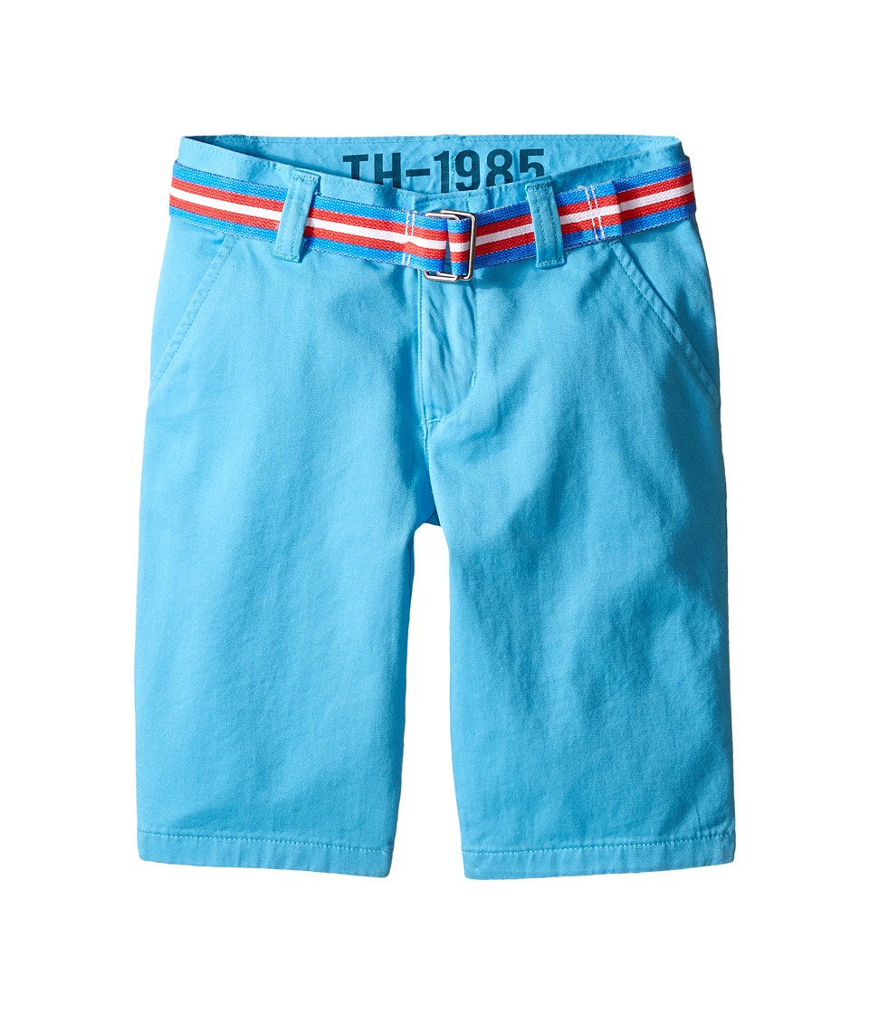 Tommy Hilfiger Kids - Chester Twill Shorts (Big Kid) (Zen Blue) Boy's Shorts