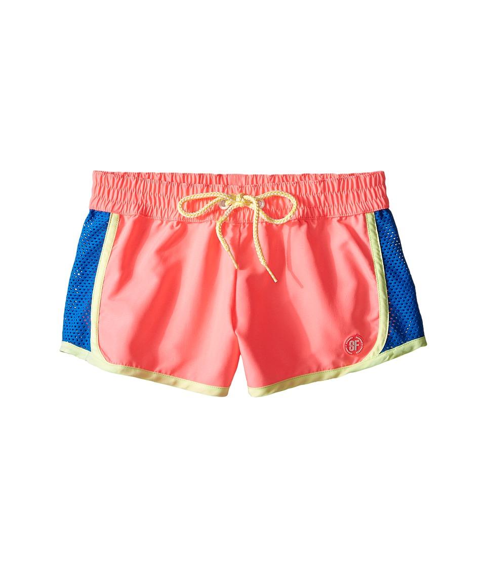 Seafolly Kids Fun Run Running Boardie (Little Kids/Big Kids) (Pink Soda) Girl