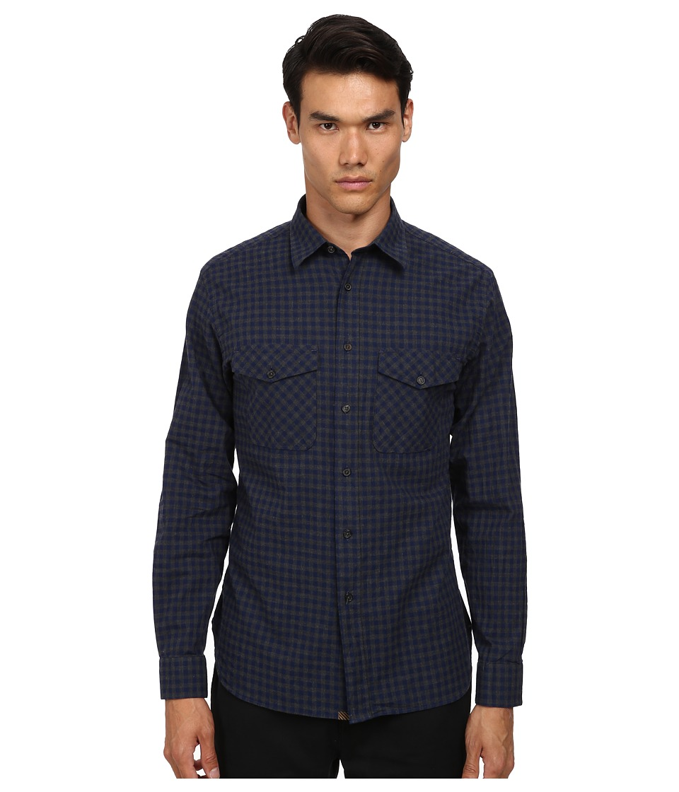 Billy Reid - Graham Top (Wing Blue Grey) Men's Long Sleeve Button Up