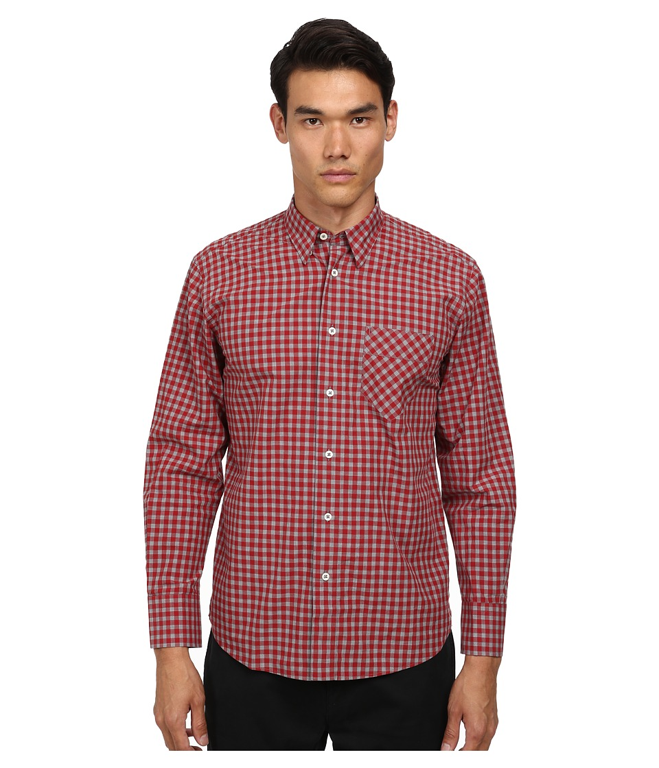 Billy Reid - Walland Top (Rolling Red) Men's Long Sleeve Button Up