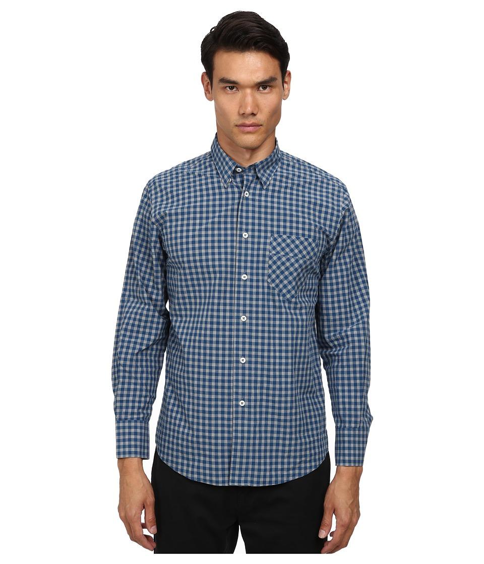 Billy Reid - Walland Top (Wing Blue) Men's Long Sleeve Button Up
