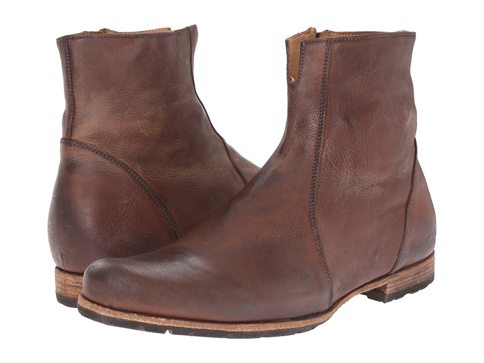 Image of Billy Reid - Paglia Moto Boot (Chestnut) Men's Boots