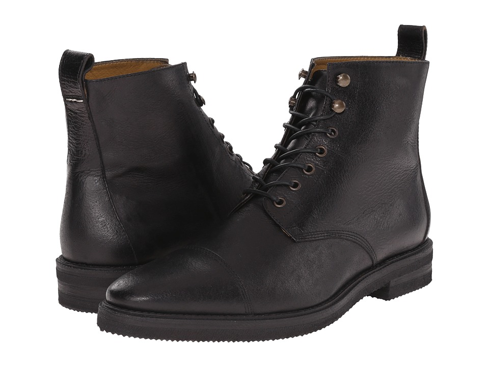 Billy Reid - Kieran Boot (Black) Men's Lace-up Boots