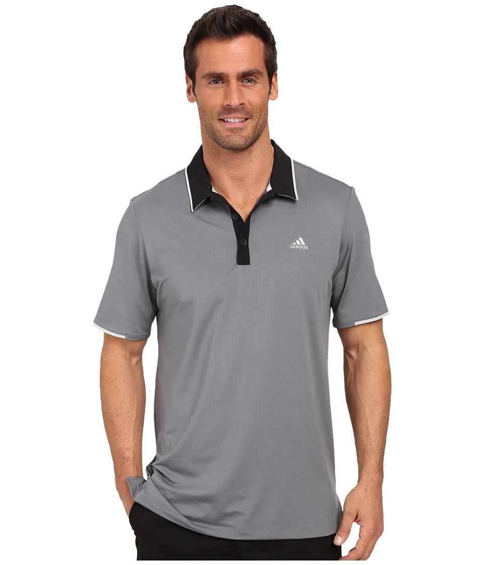 adidas Golf - CLIMACOOL Branded Performance Polo (Vista Grey/Black) Men's Short Sleeve Pullover