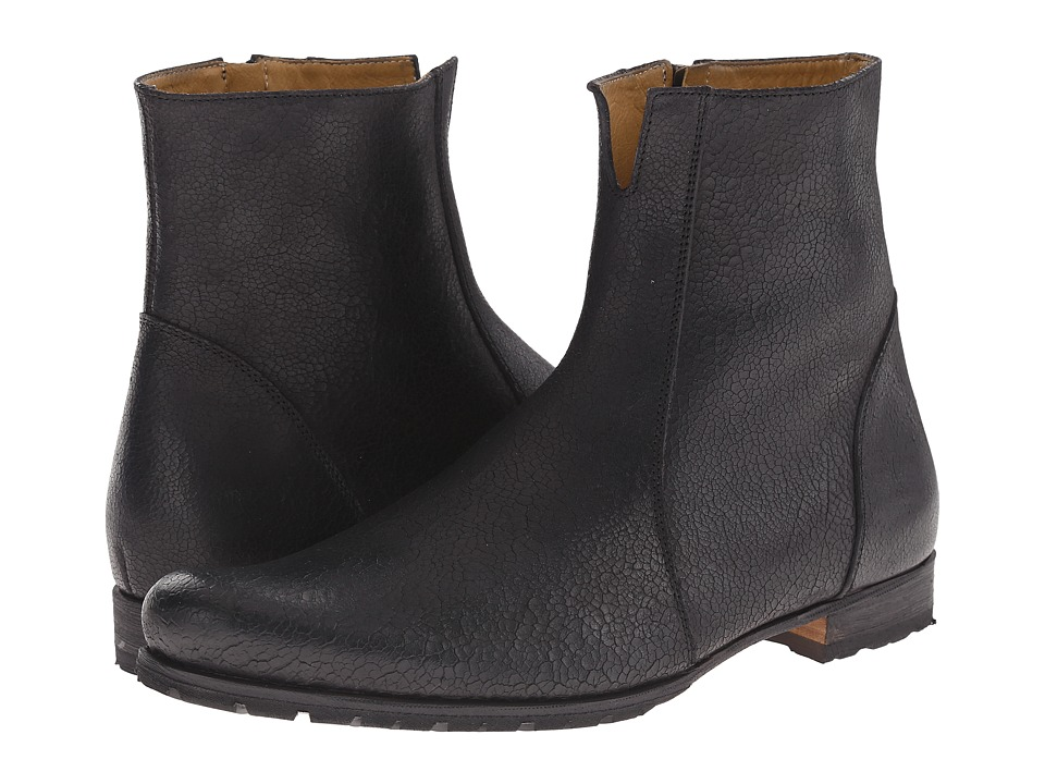 Billy Reid - Paglia Moto Boot (Black) Men