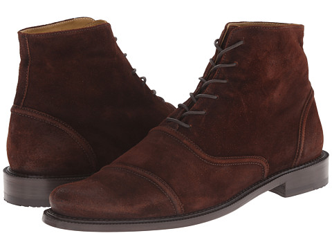 Billy Reid - Suede Crosby Boot (Brown) Men's Lace-up Boots