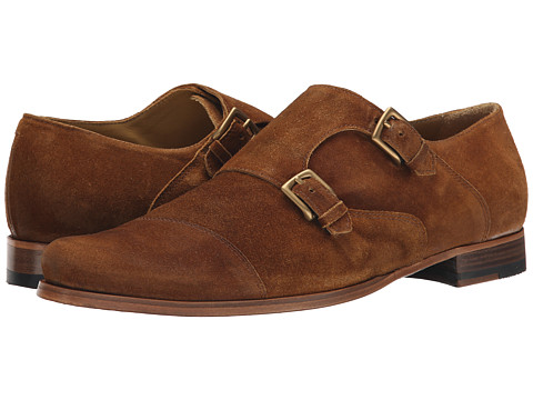 Billy Reid - Suede Double Monk Strap (Tobacco) Men's Monkstrap Shoes