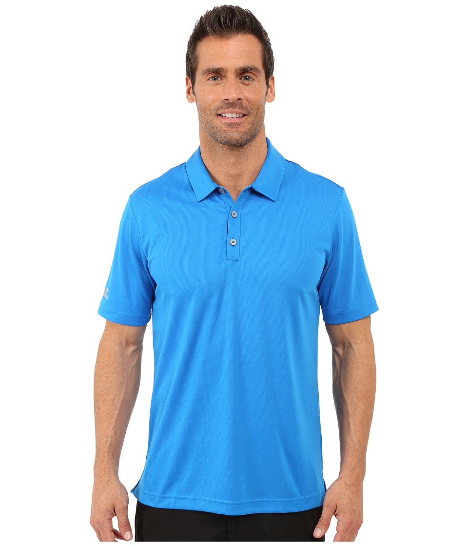 adidas Golf - CLIMACHILL Solid Club Polo (Shock Blue) Men's Short Sleeve Pullover