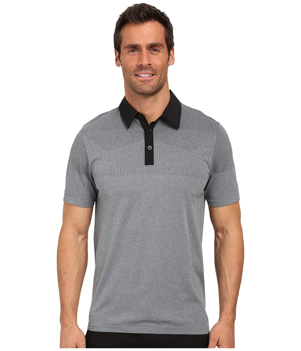 adidas Golf - CLIMACOOL Primeknit Polo (Black/Vista Grey) Men's Short Sleeve Button Up