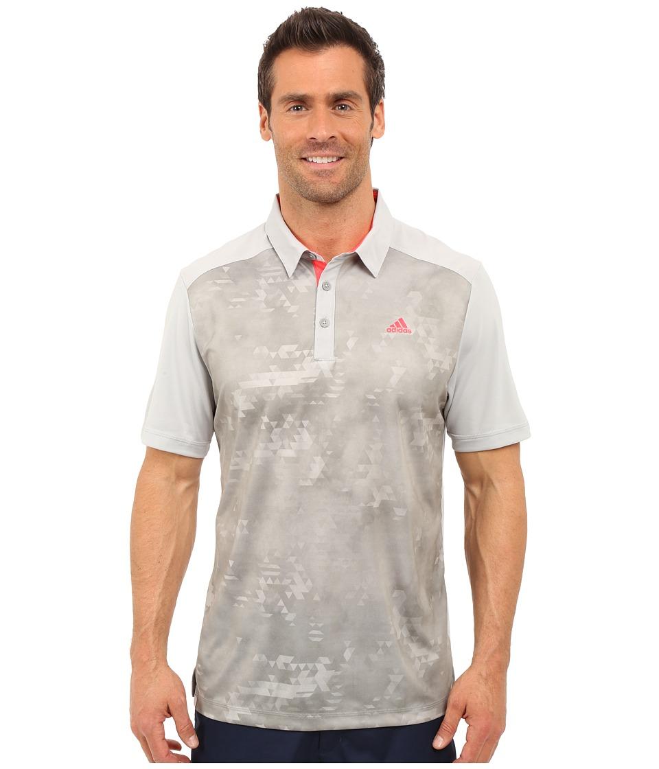 adidas Golf - CLIMACOOL Geo Print Polo (Stone) Men's Short Sleeve Pullover
