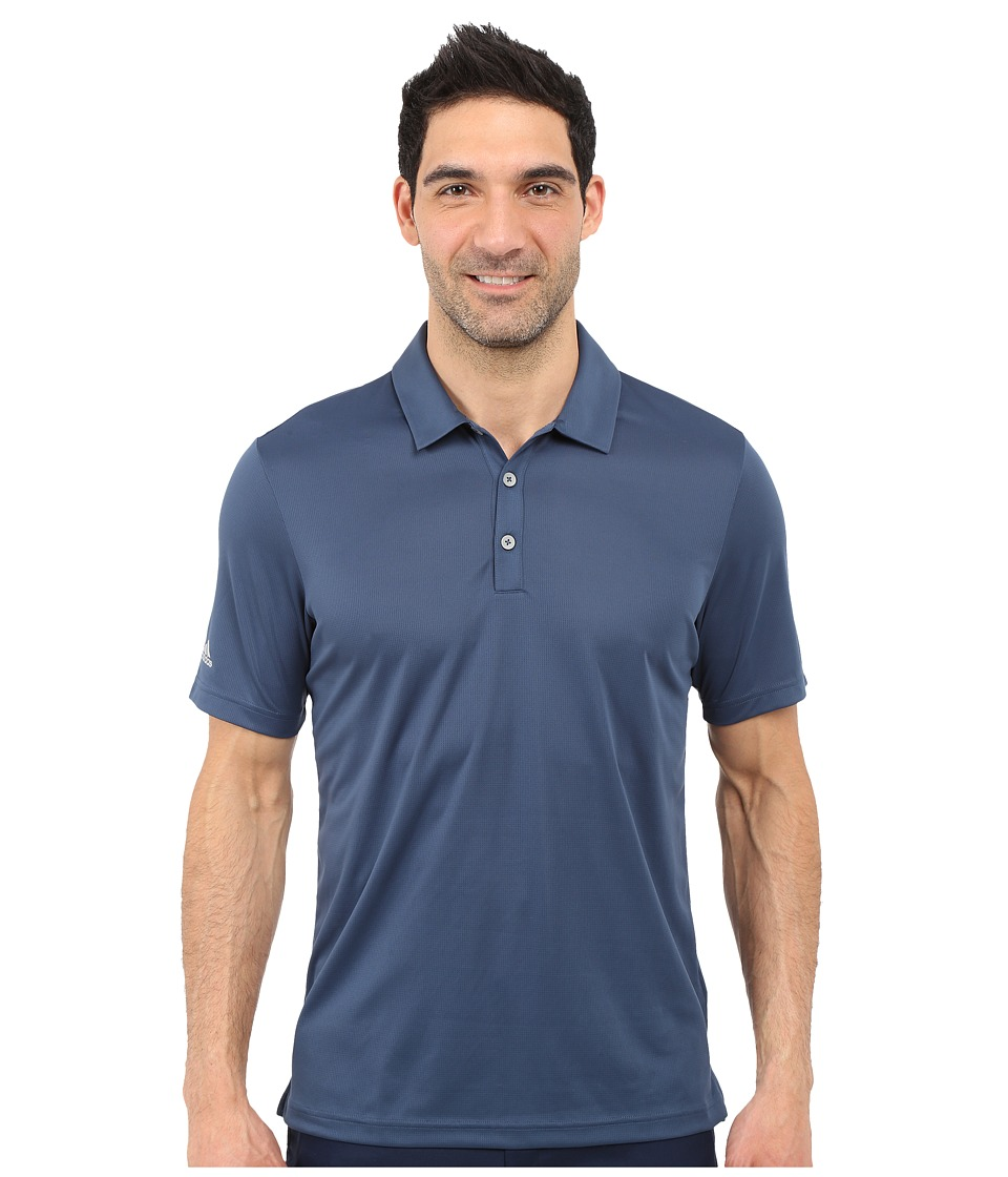 adidas Golf - CLIMACHILL Solid Club Polo (Mineral Blue) Men's Short Sleeve Pullover