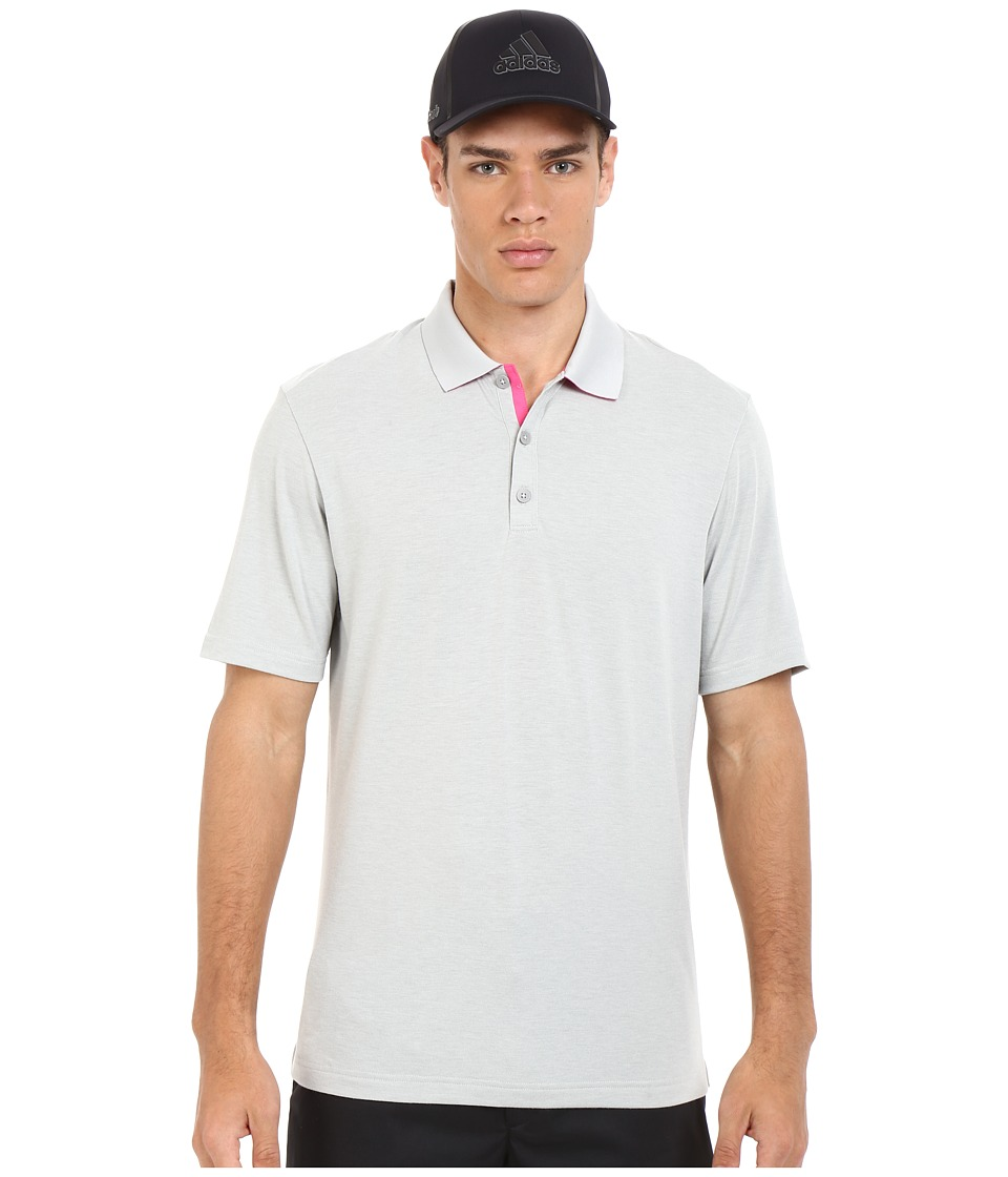 adidas Golf - Range Jersey Polo (Stone Heather) Men's Short Sleeve Knit
