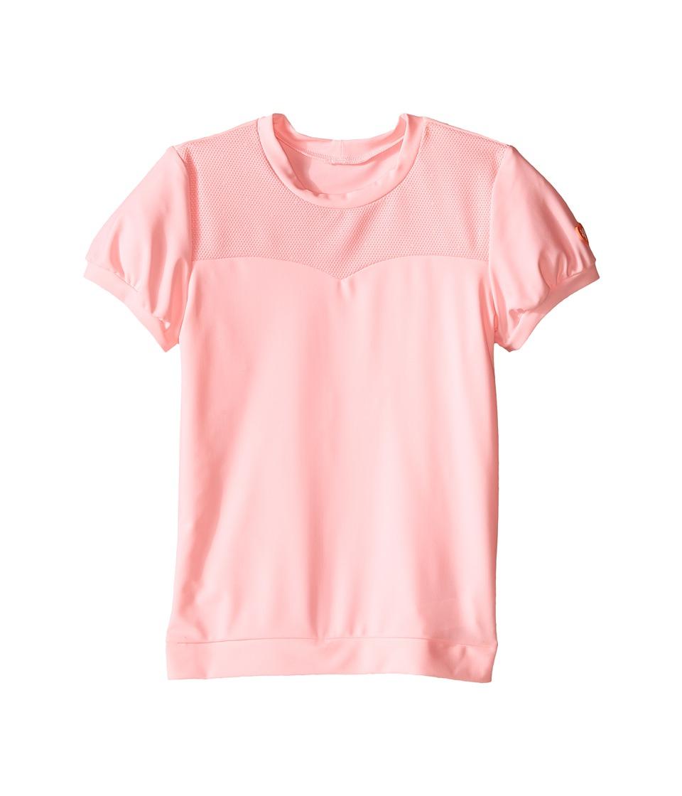 Seafolly Kids - Peek A Boo Short Sleeve Rashie (Infant/Toddler/Little Kids) (Carnation Pink) Girl's Swimwear