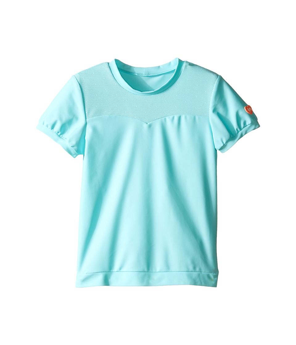 Seafolly Kids - Peek A Boo Short Sleeve Rashie (Infant/Toddler/Little Kids) (Crystal Blue) Girl's Swimwear