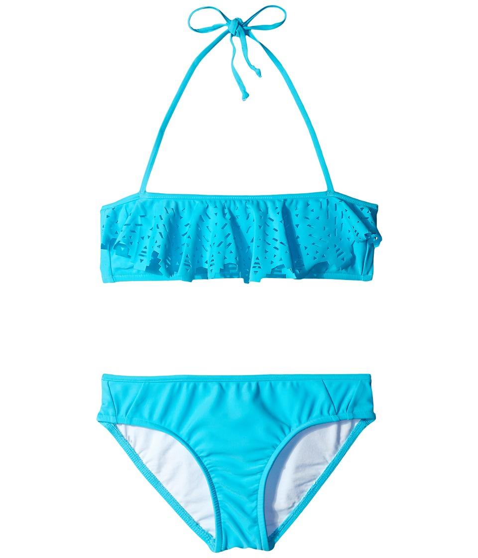Seafolly Kids - Tropical Splice Mini Tube Bikini (Little Kids/Big Kids) (Aqua) Girl's Swimwear