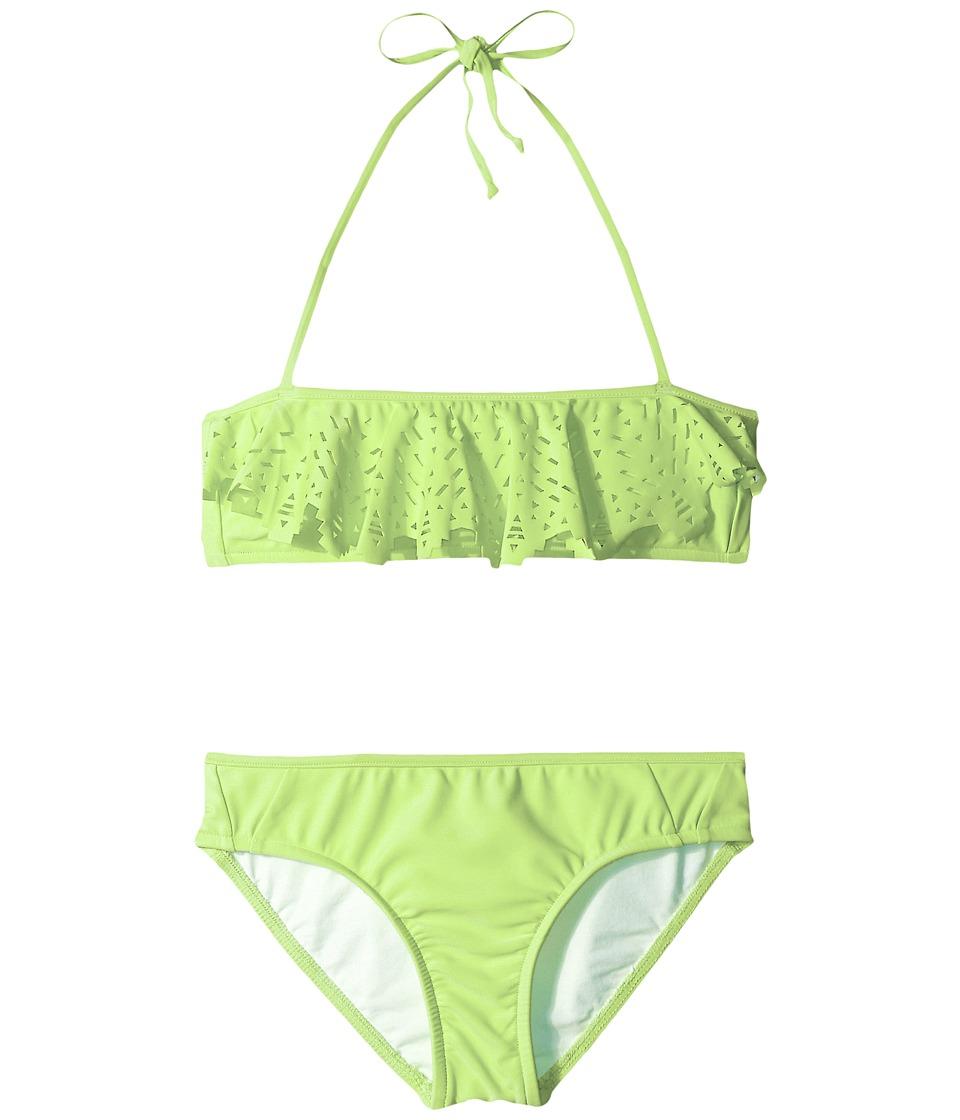 Seafolly Kids Tropical Splice Mini Tube Bikini (Little Kids/Big Kids) (Honeydew) Girl