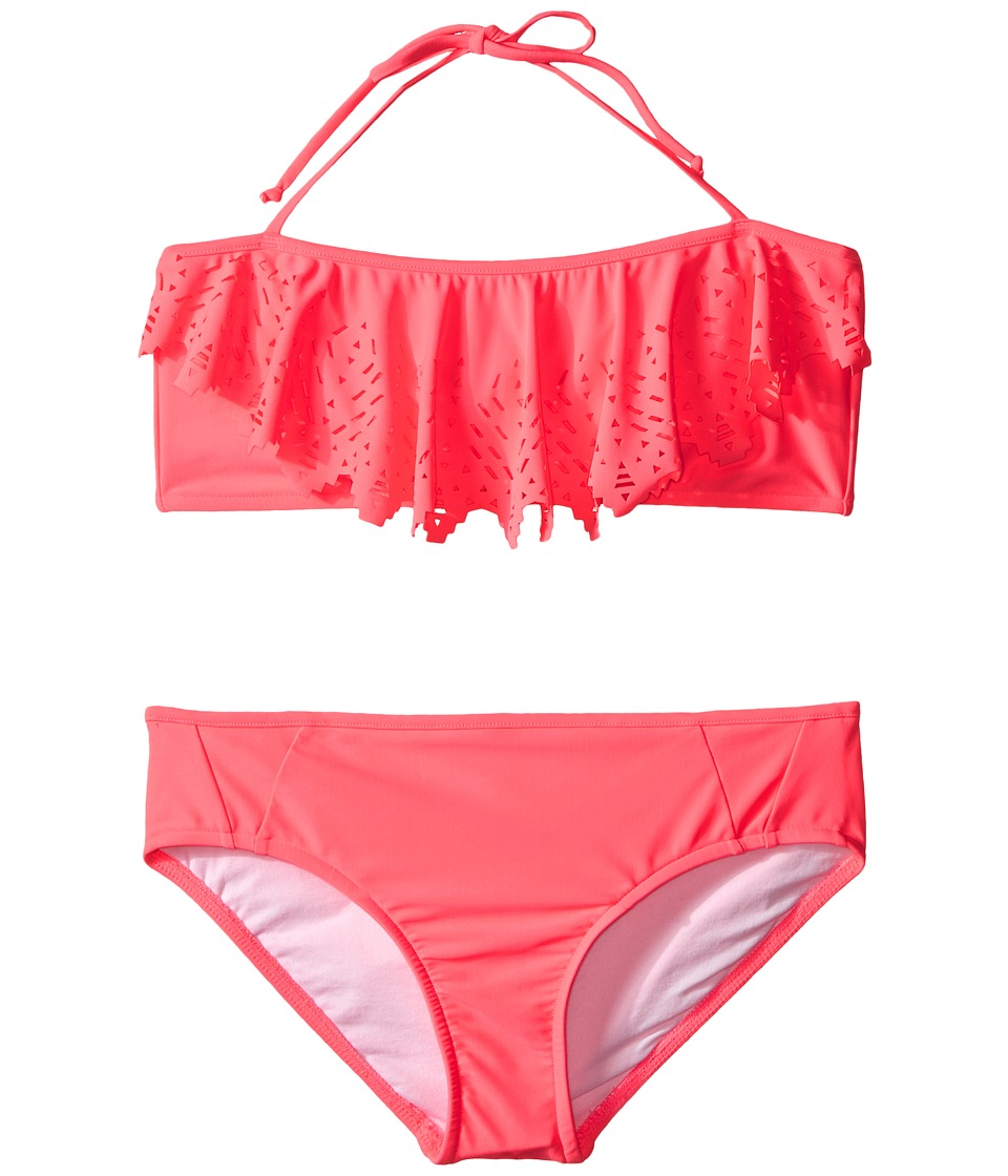 Seafolly Kids - Tropical Splice Mini Tube Bikini (Little Kids/Big Kids) (Pink Soda) Girl's Swimwear