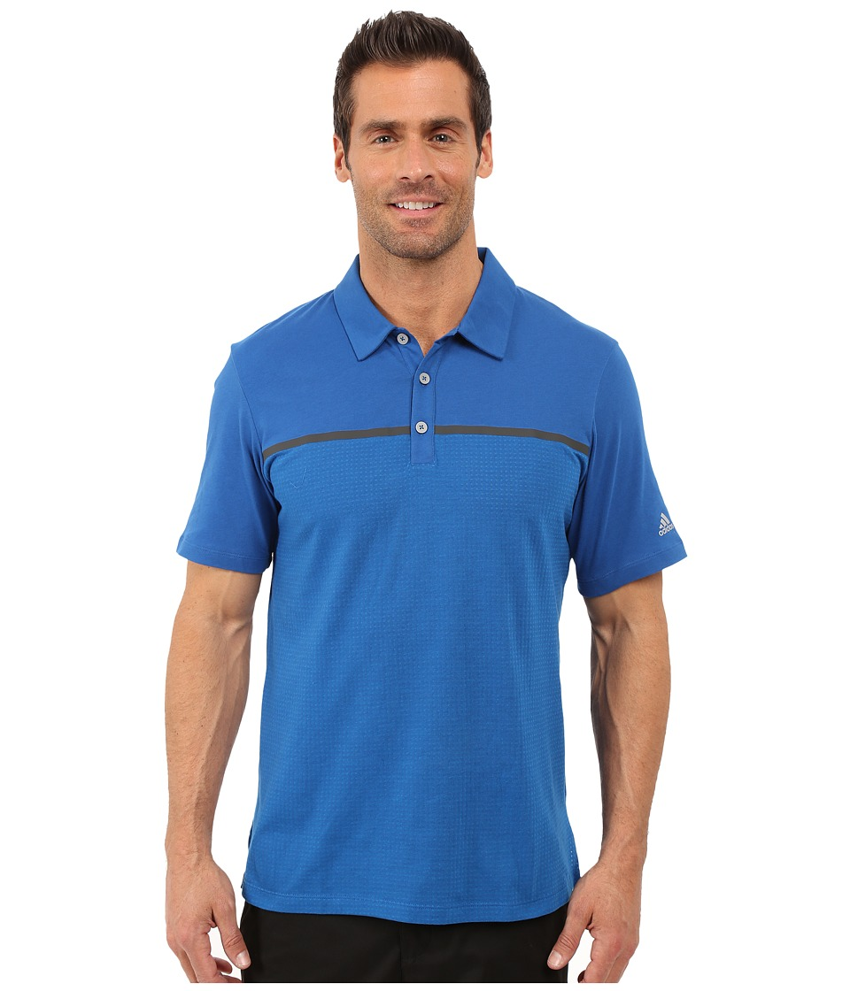 adidas Golf - CLIMACOOL Aeroknit Jersey Polo (EQT Blue/Shock Blue) Men's Short Sleeve Pullover