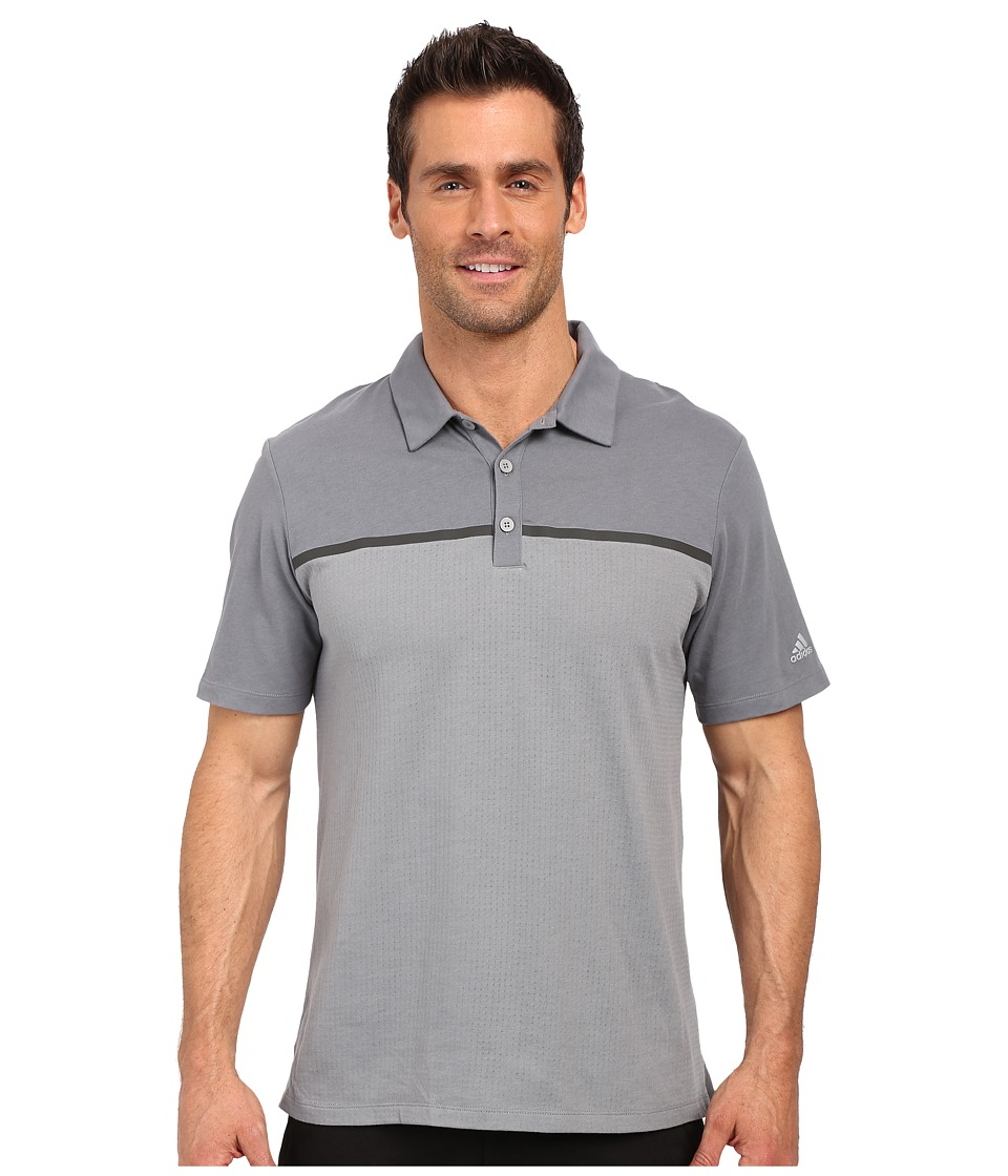 adidas Golf - CLIMACOOL Aeroknit Jersey Polo (Vista Grey/Mid Grey) Men's Short Sleeve Pullover
