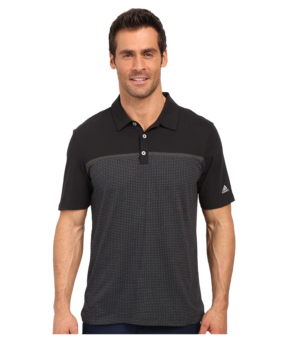 adidas Golf - CLIMACOOL(r) Aeroknit Jersey Polo (Black/Vista Grey) Men's Short Sleeve Pullover