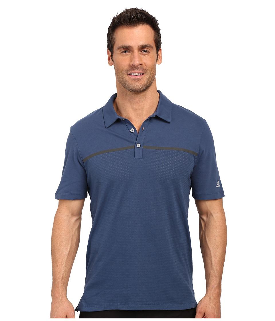 adidas Golf - CLIMACOOL Aeroknit Jersey Polo (Mineral Blue/Vista Blue) Men's Short Sleeve Pullover