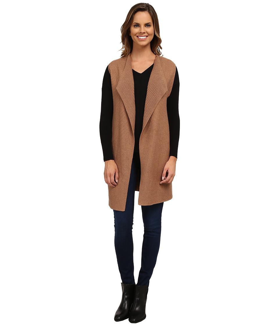 NIC+ZOE - Harmony Vest (Saddle Heather) Women's Sweater