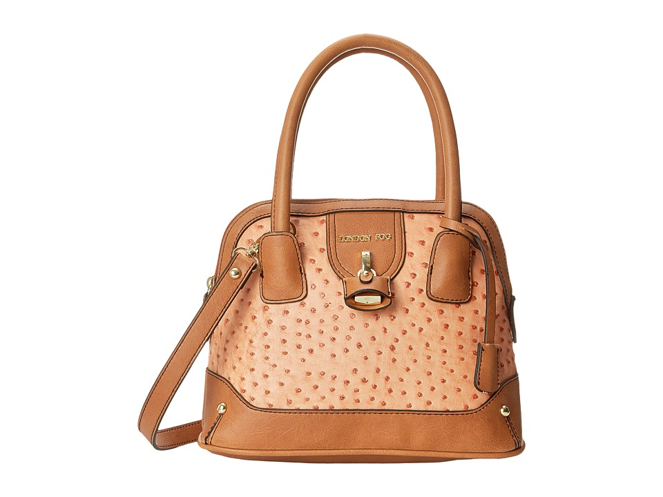 London Fog - Lark Mini Dome (Melon Ostrich) Satchel Handbags
