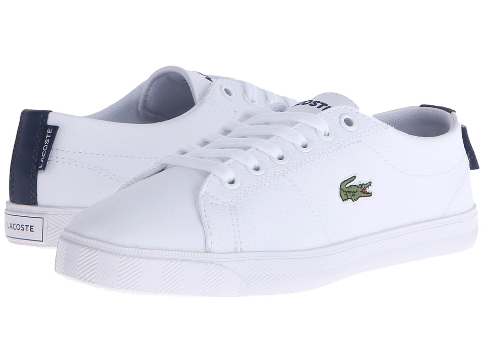 Lacoste Kids - Marcel Lace-Up 116 3 SP16 (Little Kid/Big Kid) (White/Navy) Kid's Shoes