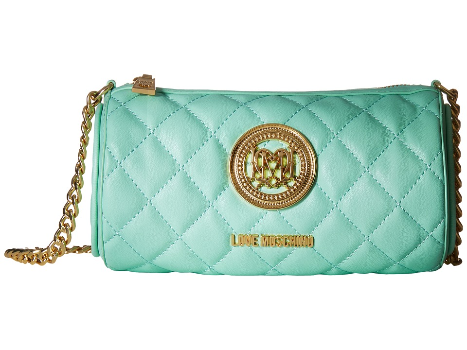 LOVE Moschino - Cylinder Quilted Crossbody Bag (Mint) Cross Body Handbags