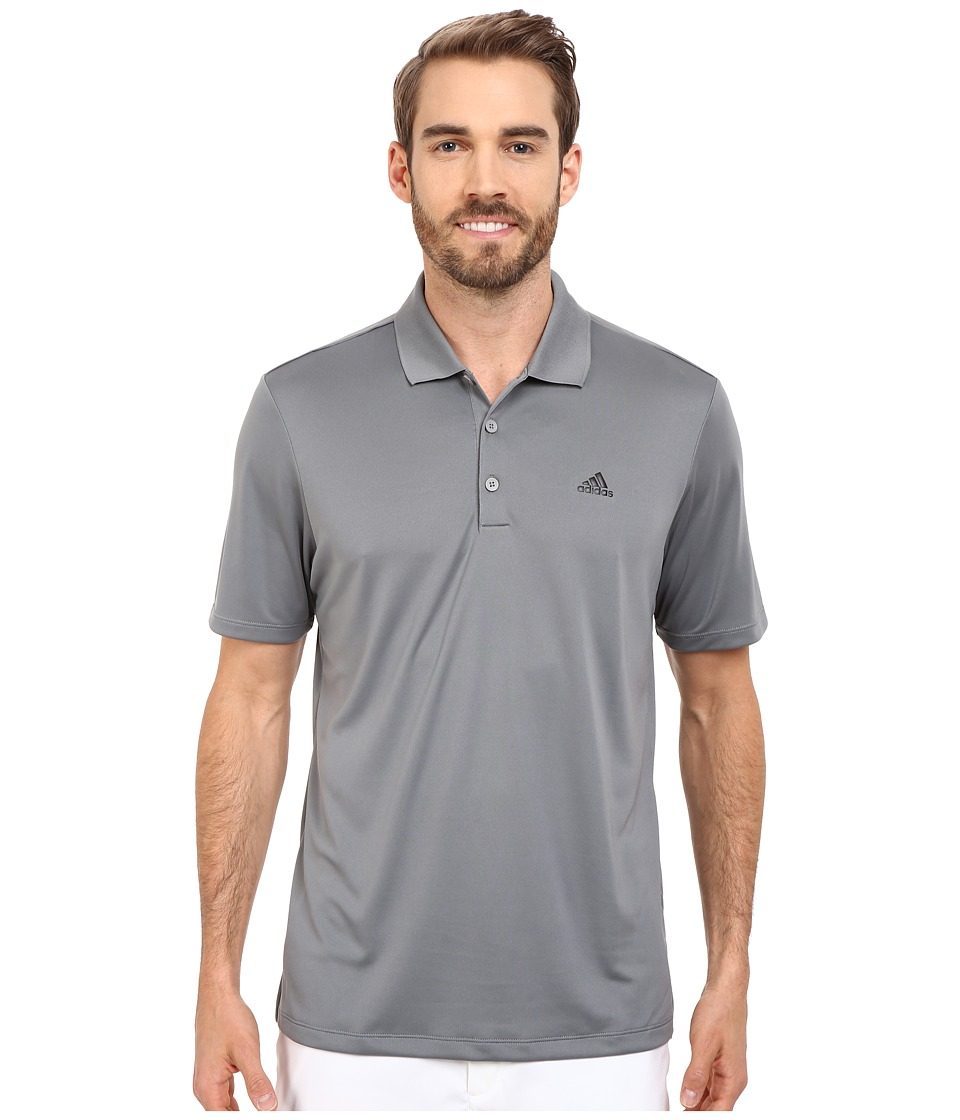 adidas Golf - Branded Performance Polo (Vista Grey) Men's Short Sleeve Pullover