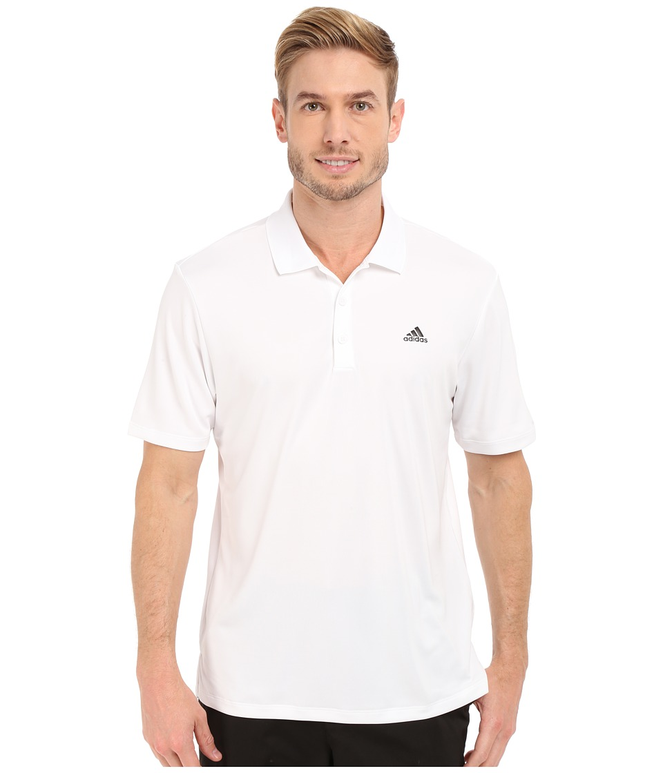 adidas Golf - Branded Performance Polo (White) Men's Short Sleeve Pullover