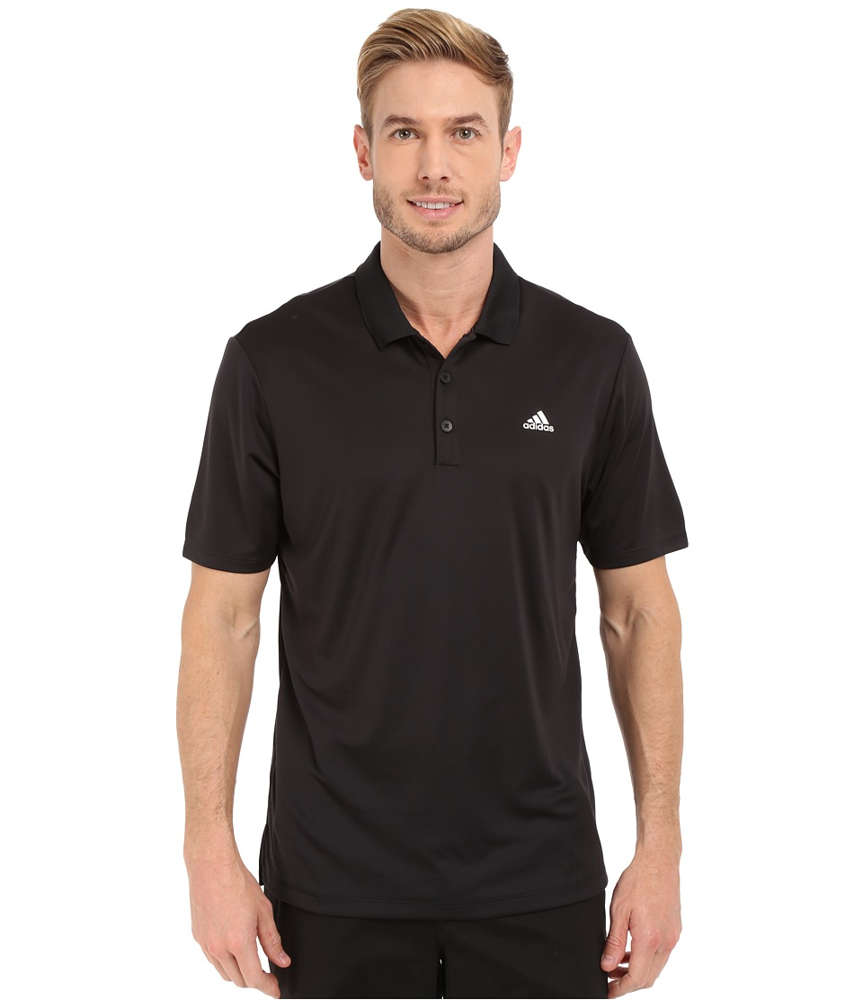 adidas Golf - Branded Performance Polo (Black) Men's Short Sleeve Pullover
