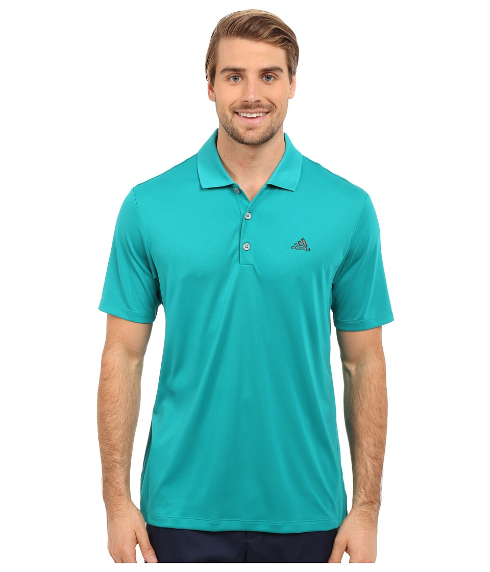 adidas Golf - Branded Performance Polo (EQT Green) Men's Short Sleeve Pullover
