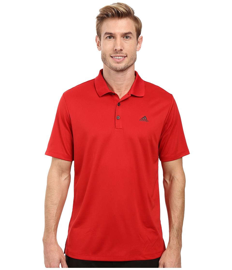 adidas Golf - Branded Performance Polo (Power Red) Men's Short Sleeve Pullover