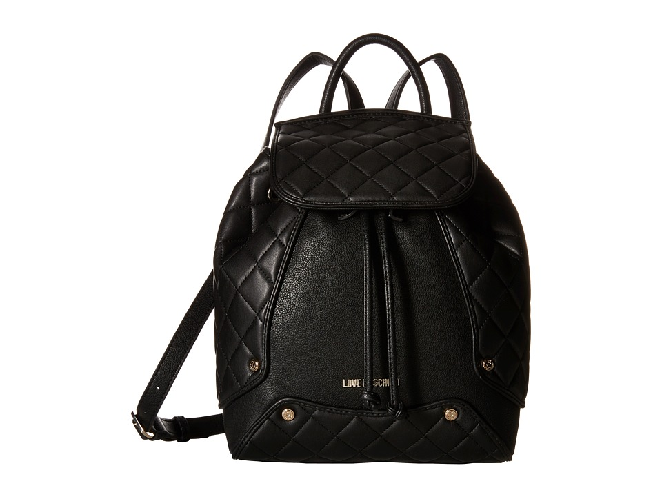 LOVE Moschino - Classic Quilted Backpack (Black) Backpack Bags
