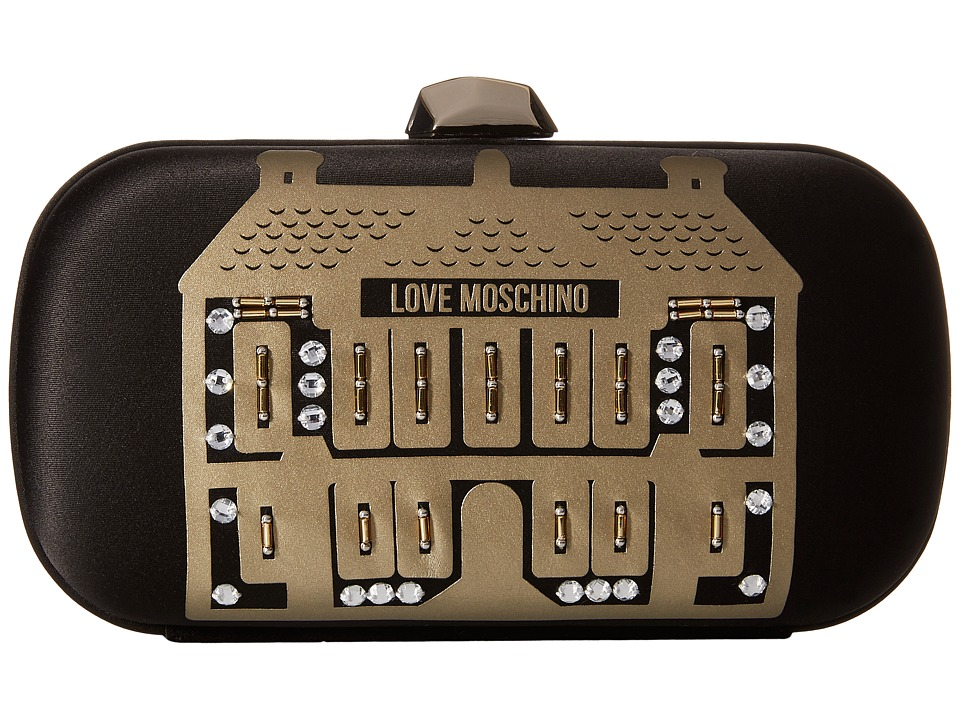 LOVE Moschino - Evening Love Moschino Showroom Clutch (Black) Clutch Handbags