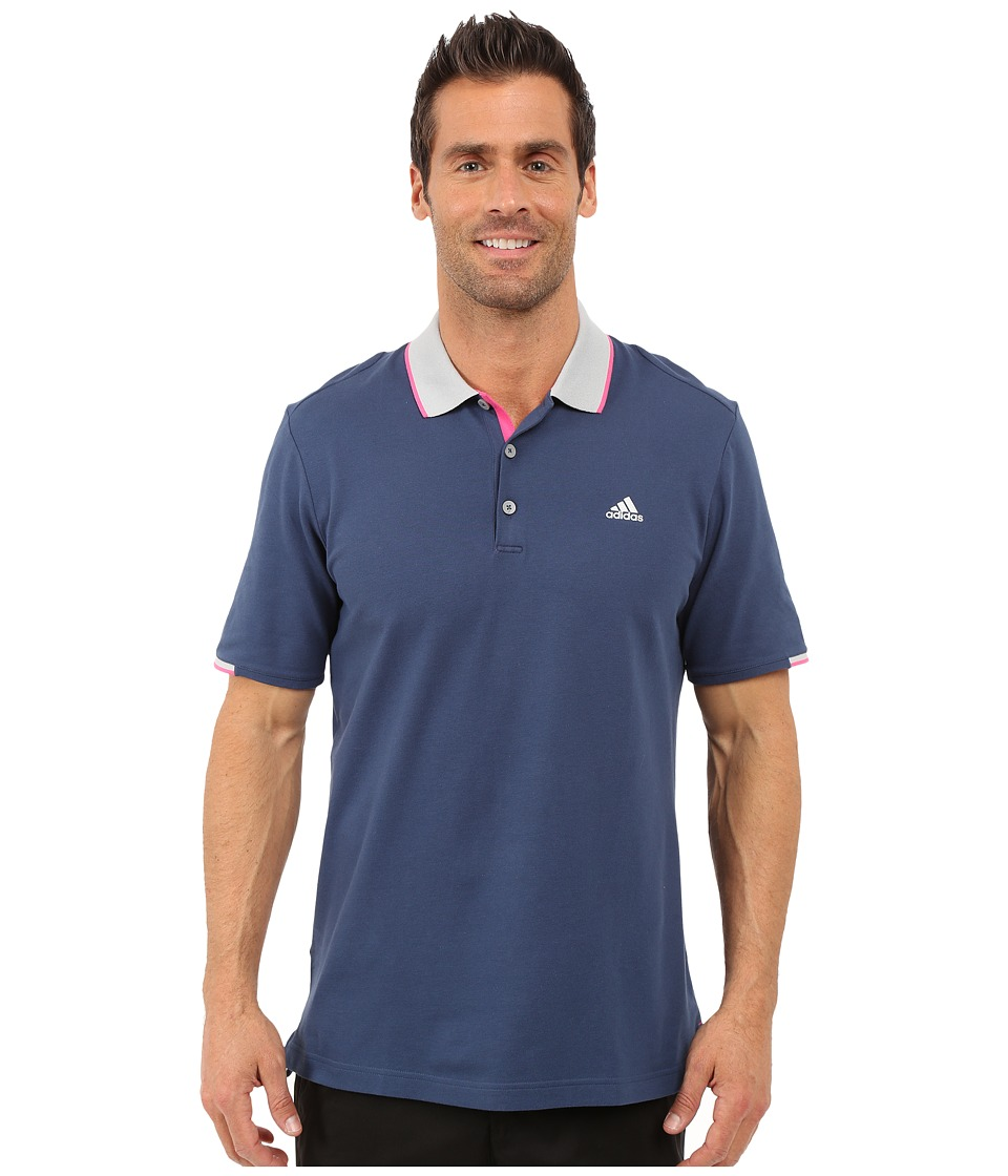 adidas Golf - Range Pique Polo (Mineral Blue) Men's Clothing