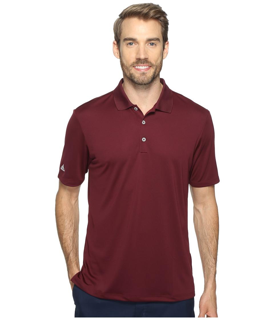 adidas Golf - Performance Polo (Maroon) Men's Clothing