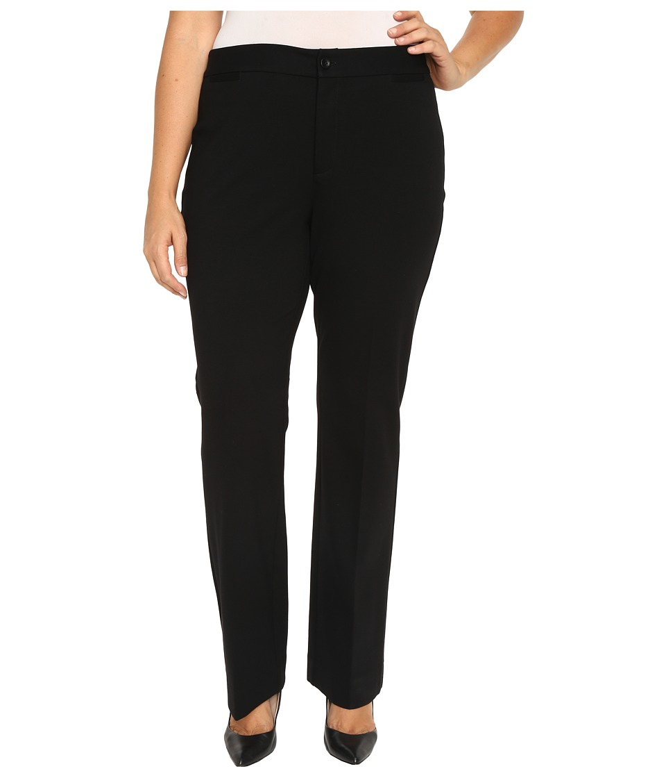 NYDJ Plus Size - Plus Size Michelle Trousers (Black) Women's Casual Pants