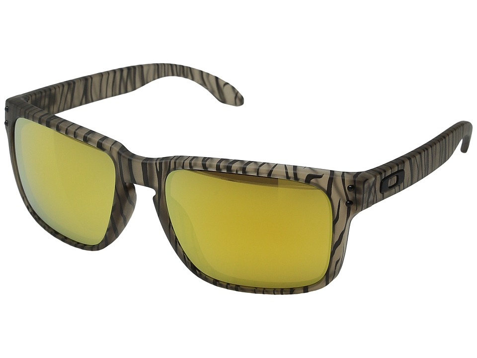 Oakley - Holbrook (Matte Sepia Urban Jungle/24K Iridium) Sport Sunglasses