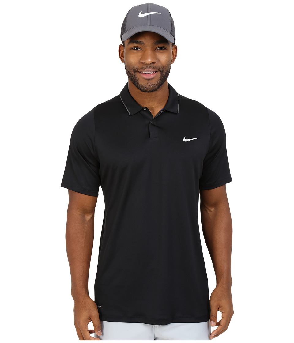 Nike Golf - Tiger Woods Velocity UV Reveal Polo (Black/Light Crimson/Black/Reflective Silver) Men's Short Sleeve Knit