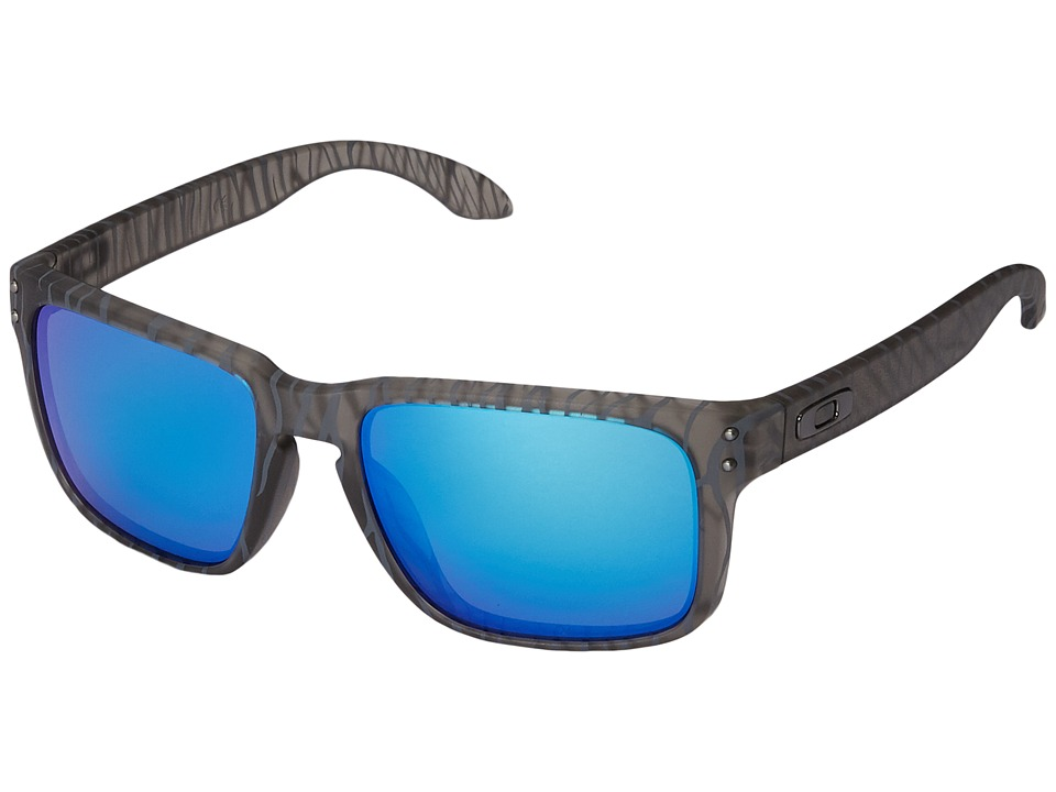 Oakley - Holbrook (Matte Grey Ink Urban Jungle/Sapphire Iridium) Sport Sunglasses