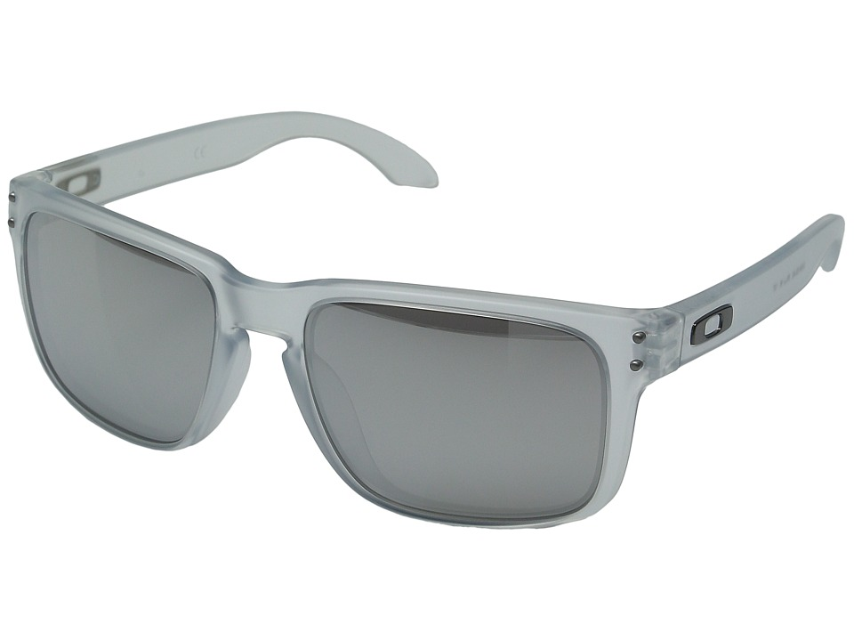 Oakley - Holbrook (Matte Clear/Chrome Iridium) Sport Sunglasses