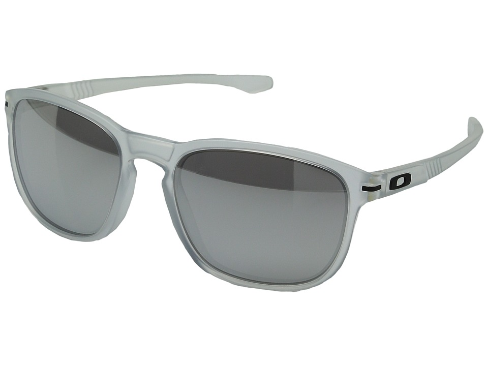 Oakley Enduro (Matte Clear/Chrome Iridium) Fashion Sunglasses