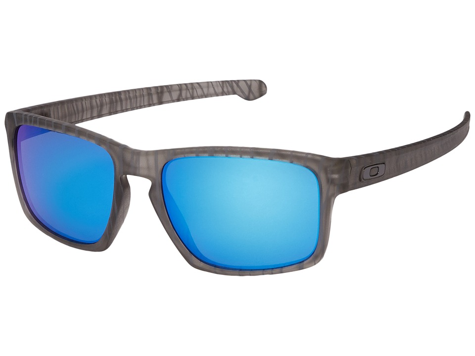 Oakley - Sliver (Matte Grey Ink Urban Jungle/Sapphire Iridium) Sport Sunglasses